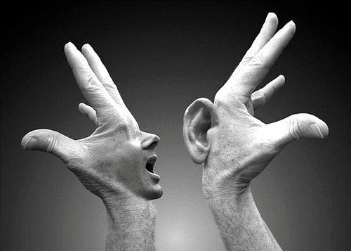 ear-hand